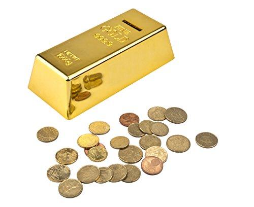 871125298366 - Spardose / Sparschwein Gold / ca. 16.5x4.5x7.5cm,