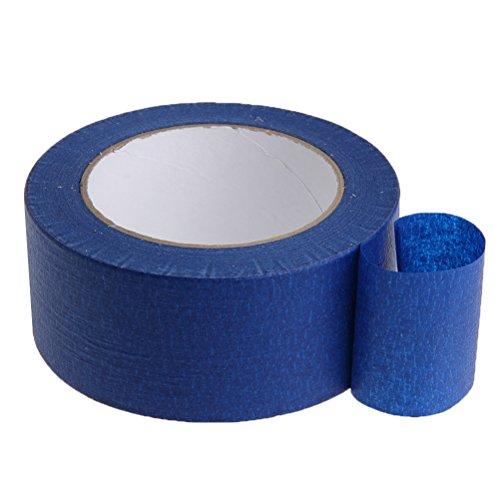 UEETEK Blaue Maler Klebeband Maskierung hitzebeständige einfache Entfernung kein Rückstand-Abdeckpapier für 3D Drucker, 90MM x 30M