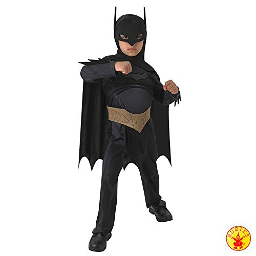 Rubies Beware the Batman Deluxe Kinder Junge Kostüm Fasching Karneval Fledermaus: Größe: M (Rubies Deluxe Batman Kostüm)