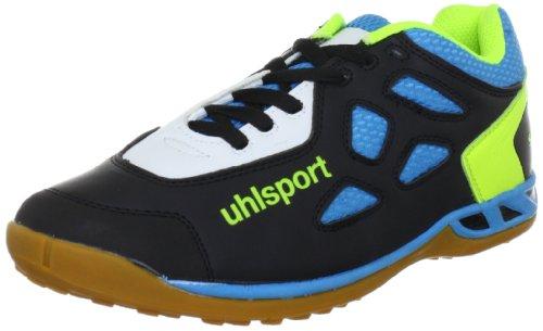 uhlsport JAGUAR Senior 100831001 Unisex - Erwachsene Sportschuhe - Outdoor Schwarz (schwarz/cyan/limone 01)