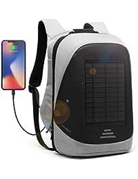 e36b6615e8 Solaire Sac a Dos 25L Sac a Dos Ordinateur Portable Pour15.6 Pouces Sac  Imperméable avec Port de Chargement USB Sac à Dos…