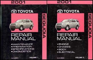 2001-toyota-sequoia-repair-shop-manual-original-set