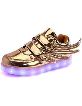Zapatillas Deportivas LED niño/niña, Luces LED de Movimiento de Flash Variable de 7 Colores se Pueden Cargar a...
