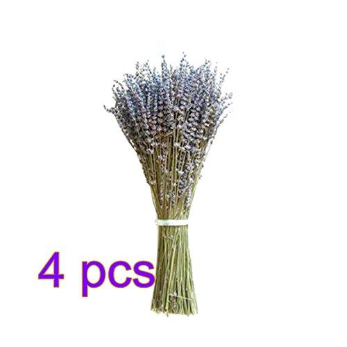 lulalula Künstlicher Lavendel Bouquet, Fast Natürliche Getrocknete Fake Bouquet für Foto-Requisiten Haushalt Garten Schaumstoff Tisch Schreibtisch Decor Veranstaltungen und Hochzeiten, violett, 4Pack