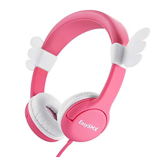 EasySMX Kids Headphone, Kinderkopfhörer mit Mikrofon, verstellbare HiFi-Kopfhörer für iPod iPad iPhone(3.5mm) Handy Tablet PC MP3 MP4