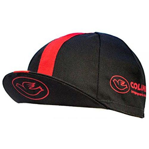 Columbus - Gorra Unisex, Color Negro y Rojo, Talla única