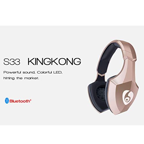 ALIKEEY Kabellose Kopfhörer Leichter Kopf S33, der drahtlosen Bluetooth mit eingebautem Mikrofon trägt Ohrhörer für iPhone, iPad, Samsung, Huawei, xiaomi und mehr - 2