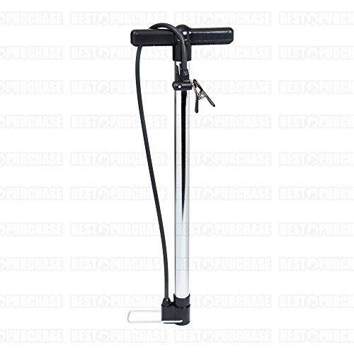 Pompe d'air droit en aluminium | Pompe pour vélo | Gonfleur pompe à air droit | de hinchado avec pédale | Gonfleur de Atelier aluminium
