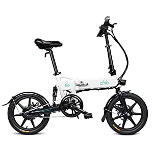 41hm%2BrGF8TL. SS300 Bicicletta Pieghevole Bloomma/E-Bike/Scooter da 16 Pollici Ruota Batteria al Litio Bike Fit Camping FIIDO D2