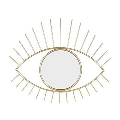CAPRILO Espejo Pared Decorativo Metal Cristal Ojo