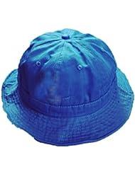 CHT Hombres Y Mujeres Primavera Y Otoño Al Aire Libre Sol Multicolor Plegable Sombrero,Blue