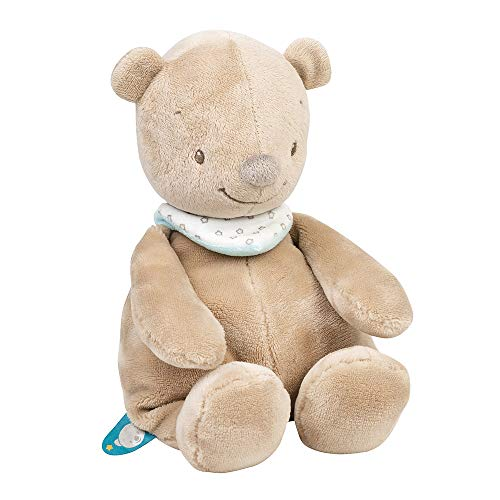 Nattou Peluche pour Bébé Fille et Garçon 28 cm - Basile l'ours