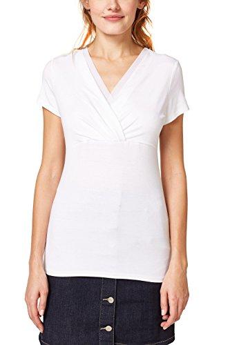 ESPRIT Collection Damen T-Shirt 998EO1K802, Weiß (White 100), XX-Large (Collection Stretch)