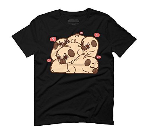 Grumble of Puglies Men's Graphic T-Shirt - Design By Humans Black