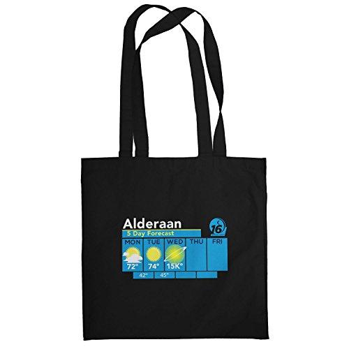 Texlab–Alderaan Weather Fore Cast–sacchetto di stoffa Nero