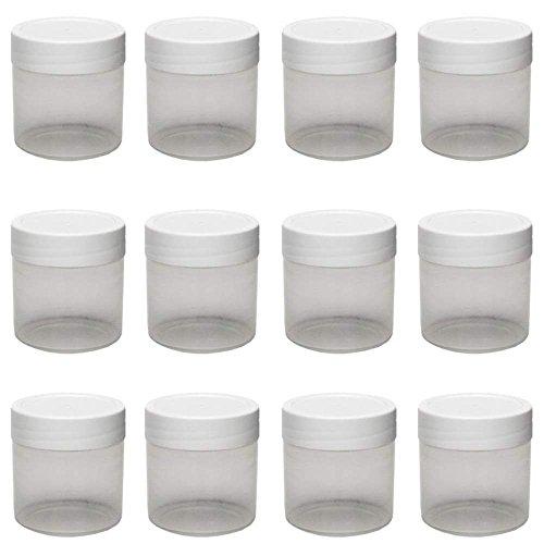 12 x kleine Cremetiegel 35ml BPA-frei, made in germany, Salbentiegel, Geltiegel, Döschen, Dose aus Kunststoff