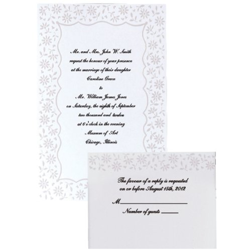 (Wilton Hochzeitseinladungs-Set 50ct Blume)