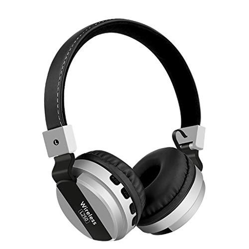 On-Ear Bluetooth-Kopfhörer , Kabellose Ohrhörer mit integriertem Headset mit Mikrofon,10H Stunden Spielzeit,Erstklassiger Sound Stereo Sound,Geräuschunterdrückung Bluetooth Kopfhörer Sport Headset - Abs Kabel Subwoofer
