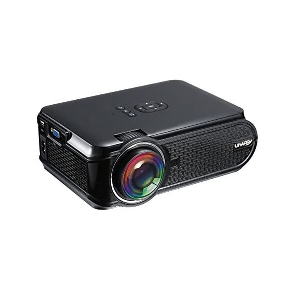 UKSoku-U90-Mini-Portable-Projecteur-HD-1080P-3000-lumens-LED-Vidoprojecteur-Micro-Home-Theater-Support-1080P-Movies-Games-iPhone-Android-Smartphone-PC-Laptop-TV-Box-PS4-xbox360-HDMI-USB-SD-Black