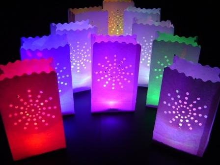 10-x-white-sunburst-paper-candle-bag-lantern-10-colour-change-led-lights-by-glowfrost-tm