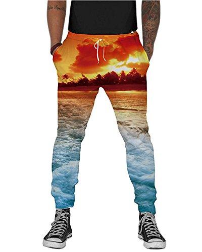 NEWISTAR unisex Stampa 3D digitale Pantaloni Sport Casuale Pantaloni felpati da Jogging Style-8