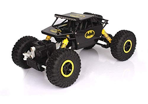 Kajal Toys Waterproof Remote Controlled Rock Crawler RC Monster Truck, 4 Wheel Drive, 1:18 Scale(Yellow)