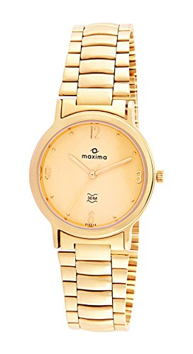 Maxima Formal Gold Analog Multi-Colored Dial Men's Watch - 19433CMGY image