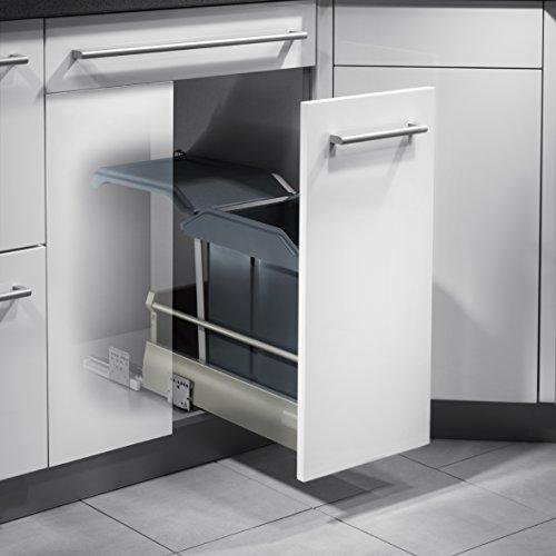 Hailo Solo Küchen-Abfalleimer, Plastik, Grau, One Size -