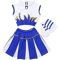 CHICTRY Traje de Danza Disfraz de Animadora Uniforme 3Pcs Traje de Porrista para  Niña Chica Conjunto 514162b338129