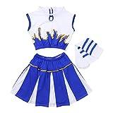 CHICTRY Déguisement de Pom-Pom Girl Costume écoliere (Haut+avec Jupe+Chaussettes)...