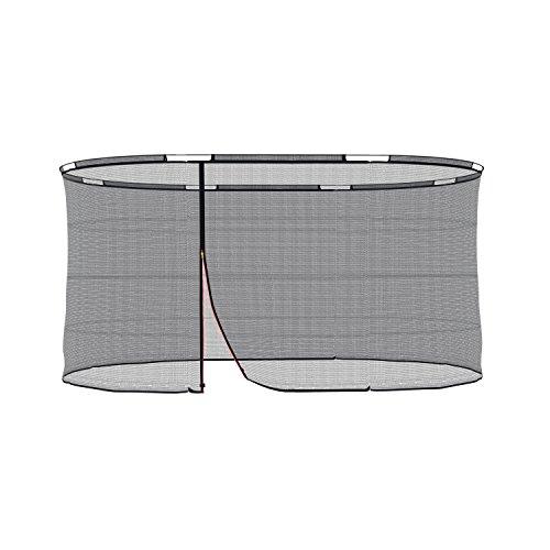Ampel 24 Sicherheitsnetz für ovales Trampolin 313x460 cm, Ersatznetz für 8 Stangen, Netz innenliegend, Ersatzteil reißfest und UV-beständig