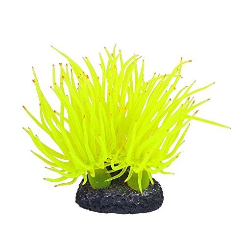 Hniunew Möbel Indoor Aquarium Schwimmen Ornament GlüHende Dekoration Regenbogen KüNstliche Koralle Weichtierpflanze Wasser Gras Landschaftsbau Stein Unterwasser Zierpflanze Kunststoff Blumen