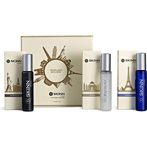Titan Skinn Travel Pack Of 3, EDP, 20ml, Perfume for Men.