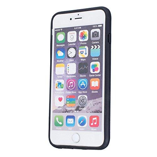 """MOONCASE iPhone 6 Plus / 6S Plus Hülle, Dual Layer Soft TPU + Rutschfest Hart PC Schale Anti-Shock Defender Schutz Tasche Schutzhülle Case für iPhone 6 Plus / 6S Plus (5.5"""") Schwarz Silber"""