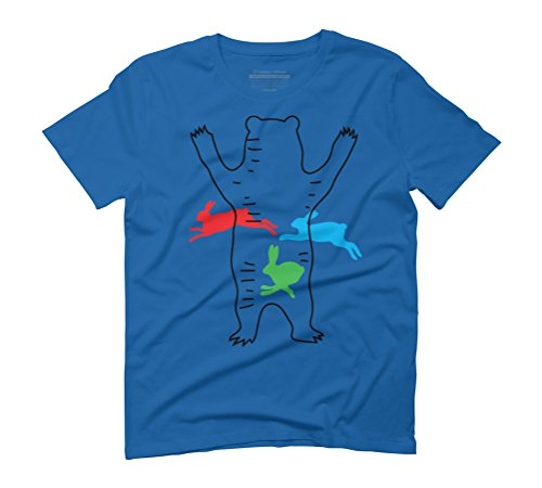 Magic Bear #01 Men's Graphic T-Shirt - Design By Humans Royal Blue