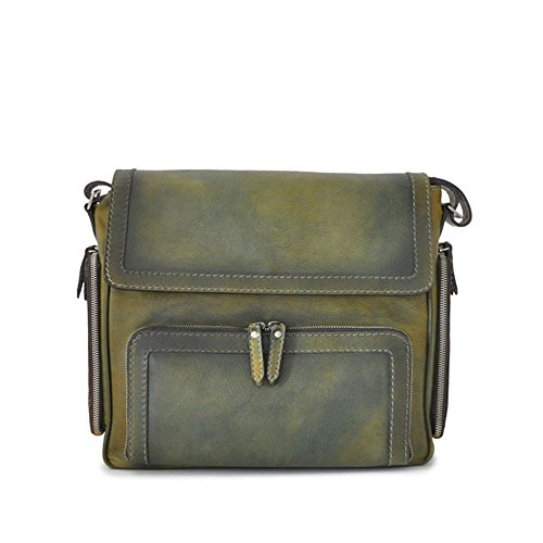 Pratesi Italian Elba cuir cross corps messager sac (noir) vert