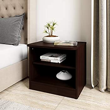 Amazon Brand - Solimo Polaris Engineered Wood Bed Side Table (Walnut Finish)