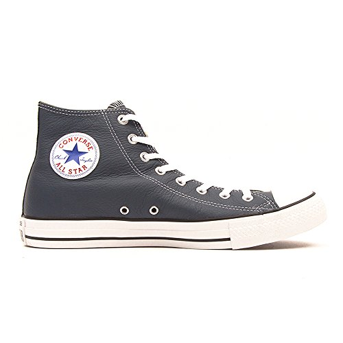 Converse Chuck Taylor All Star Core Lea Hi, Baskets mode mixte adulte Blau (Bleu Nuit 52)