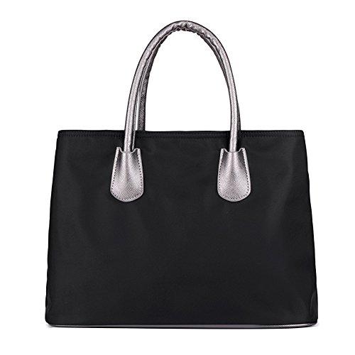 LINGE-Tempo libero Oxford lady bag a spalla , purple Black