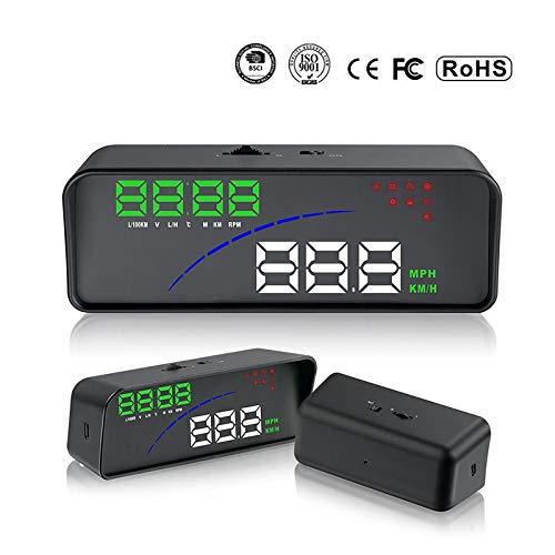 Display HUD Head Up per auto Display OBD Smart Digital per la maggior parte delle auto OBD2 EUOBD Display del proiettore HD The Car Dashboard
