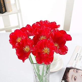 HYLZW Flor Artificial Planta 5 Unids/Lote Decoración De Boda Muebles Amapolas Artificiales Flores Boda Día De San Valentín Bricolaje Decoración del Hogar Ramo