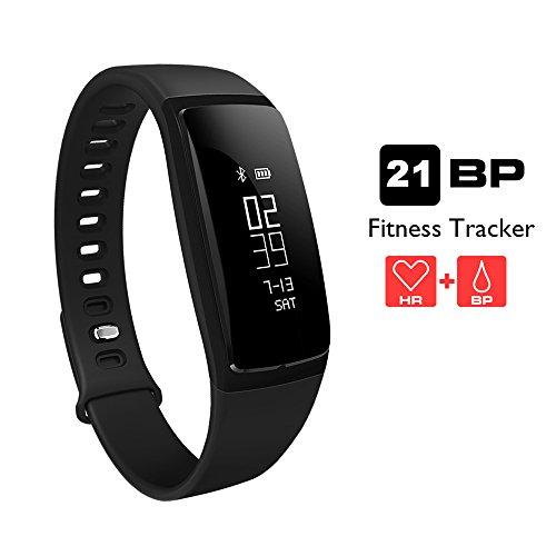 Fitness Tracker, AUPALLA 21BP è uno smart band e un Activity Tracker che può tenere traccia della frequenza cardiaca e della pressione sanguigna, funziona da pedometro e monitorizza il nostro sonno e le calorie Supporta sia gli smartphone IOS (iPhone) che Android