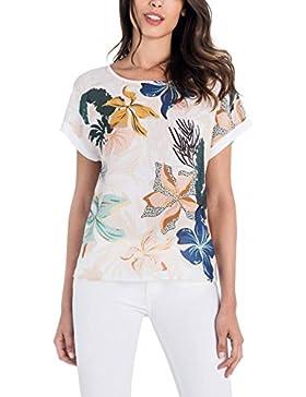 Salsa Camiseta con Estampado de Hojas