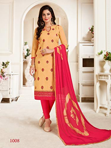 c6f434c3b1 Shree Ganesh Retail Womens Lone Cotton With Embroidery Churidar ...