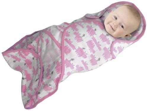 Soothetime Snooze Wickeltuch, rosafarbenes Nilpferd-Motiv