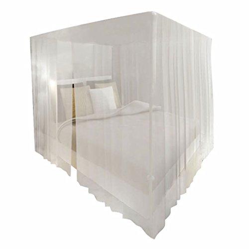 Festnight Quadratisches Moskitonetz Bett Netz 2 Stk. Set Insektenschutz Mückennetz mit 3 Öffnungen 220 x 200 x 210 cm