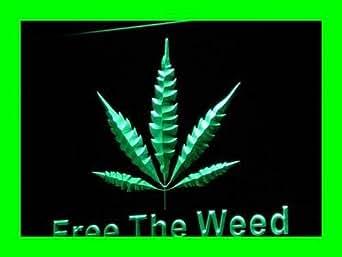 ADV PRO i269-g Free The Weed Hemp Marijuana Bar Neon Light Sign Barlicht Neonlicht Lichtwerbung