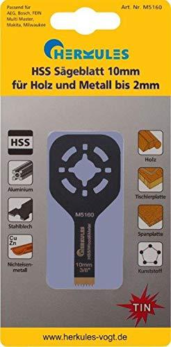 Herkules M5160 Lame de scie HSS titane revêtement nitrure pour ponceuse vibrante multifonction sur bois, agglos, plastique, aluminium, tôle d'acier, métaux non ferreux 28 x 10 x 0,8 mm 18 dpp