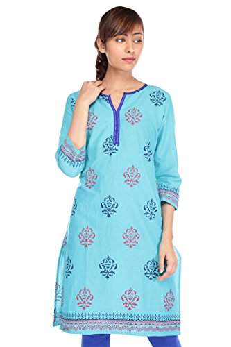 Pink almirah Women Blue Printed Kurta  available at amazon for Rs.319
