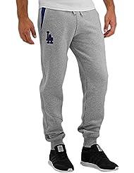 NEW ERA ne97046fa16MLB Track Losdod–Pantalon de chándal-línea Los Angeles Dodgers pour homme, couleur gris